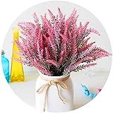yueyue947 / Ramo de Flores de Lavanda Artificial en púrpura, Planta Falsa para decoración del hogar, Boda, jardín, Oficina, decoración del Patio, arreglo de Fiesta, Lavanda/Rojo / 4 Piezas