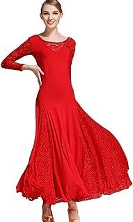 44f69ab7d52e Pizzo Maniche Waltz Vestiti da Ballo per Le Prestazioni delle Donne Vestito da  Ballo Moderno Abito