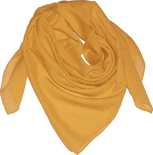 Harrys-Collection Damen Herren Baumwolltuch in vielen Farben 100 x 100 cm, Farben:Goldgelb, Größen:Einheitsgröße