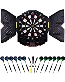 Grebarley Dart Target, Electronic Dartboards 27 Main Sets and 216 Variation Sets Electronic Targets for 8 Players with 12 Plastic Tip Darts