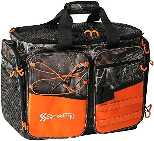 Sougayilang - Borse da pesca 100% impermeabili per attrezzi da pesca, borsa portatile a tracolla, adatto per 3600 3700