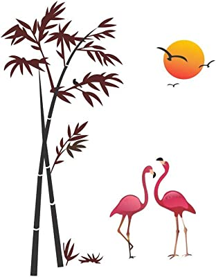DivineDesigns Flamingo Sticker | Wall Sticker for Living Room/Bedroom/Office and All Decorative Stickers