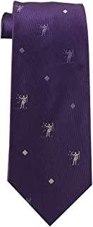 Book of Mormon Tie for Boys ages 8-14 LDS Tie - Samuel the Lamanite (Purple (with White and Lavender))