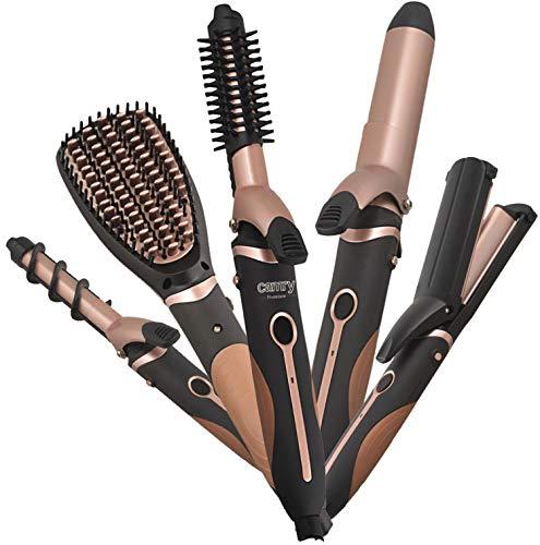 5in1 Hairstyling Set | 1200 Watt | 5 Aufsätze | Schnelles Aufheizen | Lockenwickler | Glätteisen | Haircurler | Haarglätter | Curler (5in1 Set)