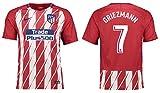Camiseta para niños Atlético de Madrid 2017–2018, equipación de local, Griezmann 7, Griezmann 7, 128