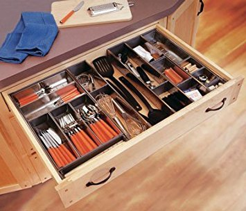 """Blum Orgaline For Wood Drawers With Lengths 19 1/4"""" To 20"""" Cutlery Kit 15 3/4"""" To 16 1/2"""" W Stainless Steel"""