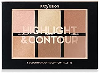 Profusion Cosmetics - Studio Icon Collection Highlight & Contour 6 Colour Palette