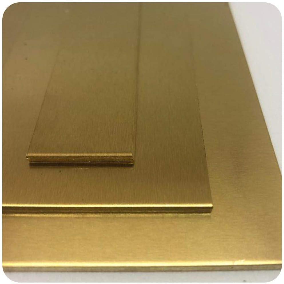 B/&T Metall Messingblech 3,0 mm stark aus Ms63 CuZn37 Oberfl/äche blank im Zuschnitt