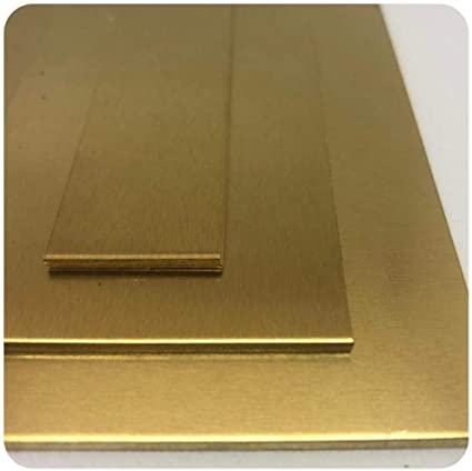 CuZn37 Oberfl/äche blank im Zuschnitt B/&T Metall Messingblech 2,0 mm stark aus Ms63