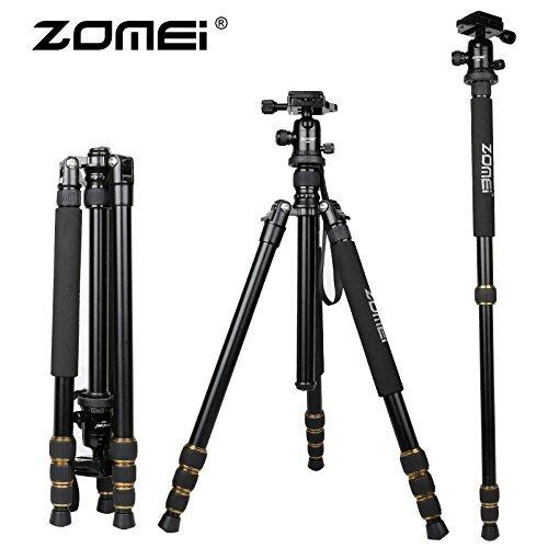 Zomei trípode profesional portátil Monopod para cámaras DSLR DV Videocámaras, Q666, not carbon fiber tripod