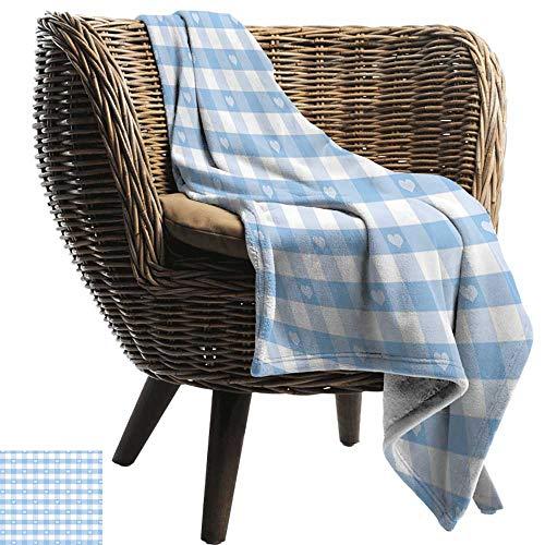 ZSUO huisdier deken geruit, Diagonale strepen in Aqua Color Monochrome gekruiste lijnen in klassieke tegel ontwerp Aqua wit Alle seizoenen licht gewicht Woonkamer/slaapkamer