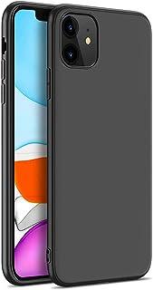 iPhone 11ケース ソフト 薄型 軽量 アイフォン11 ケース 指紋防止 防水 滑り止め TPU素材 高級感 ストラップホール付き ワイヤレス充電対応 ブラック(6.1インチ)