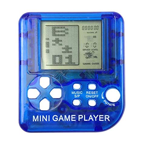 Edal Mini Classical Game Tetris Electronic Game Keychain Toy Gifts Color Random