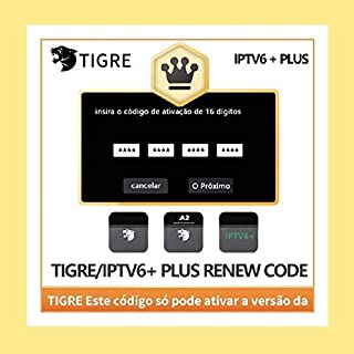 Tigre/Tigre 2/IPTV 6+ / HTV6+ TV Box Renew Renewal Activation Code, Quick delivery by email.Tigre Tiger Brazil Brazilian TV Box, 16-Digit Renew Code, One Year Subscription.