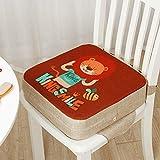 Lelesta Cuscino Rialzo da Sedia per Bambini, Fansu Comodo e Facile da Pulire Smontabile Regolabile Cuscino Alzasedia per Seggioloni Cuscino Seduta per Sedia da Giardino (40x40x10cm, Leone)