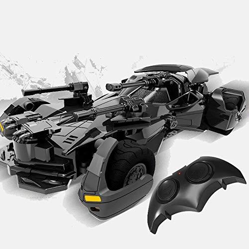 Poooc Justice League Batman Jouet Batmobile Joker Super Heroes Batman Toy 1:18 Batmobile 2.4G RC Véhicule Rechargeable Radio Contrôlé Électrique Courses de Courses Présente pour Garçons Filles Enfants