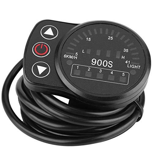 Alianthy Medidor de Bicicleta - Kit de modificación eléctrica Interruptor de odómetro de Pantalla Inteligente para Bicicleta Bicicleta de montaña