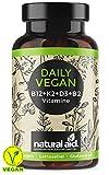 Daily Vegan - Vitamin B12+K2+D3+B2 Komplex - Kapseln Hochdosiert, 120 Kapseln (4 Monats-Vorrat),...