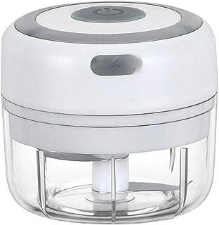 xinpeng intan Picador de Alimentos Eléctrico Mini Picador De Ajo Picadora Eléctrica con Carga USB Trituradora de Alimentos Procesador de Alimentos para Cocina y Alimentos para Bebés-100ML
