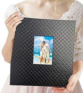 Album photo de famille 10x15 cm 600 photos - Élégant album photo en cuir à glisser vertical et horizontal 10x15 cm avec fe...
