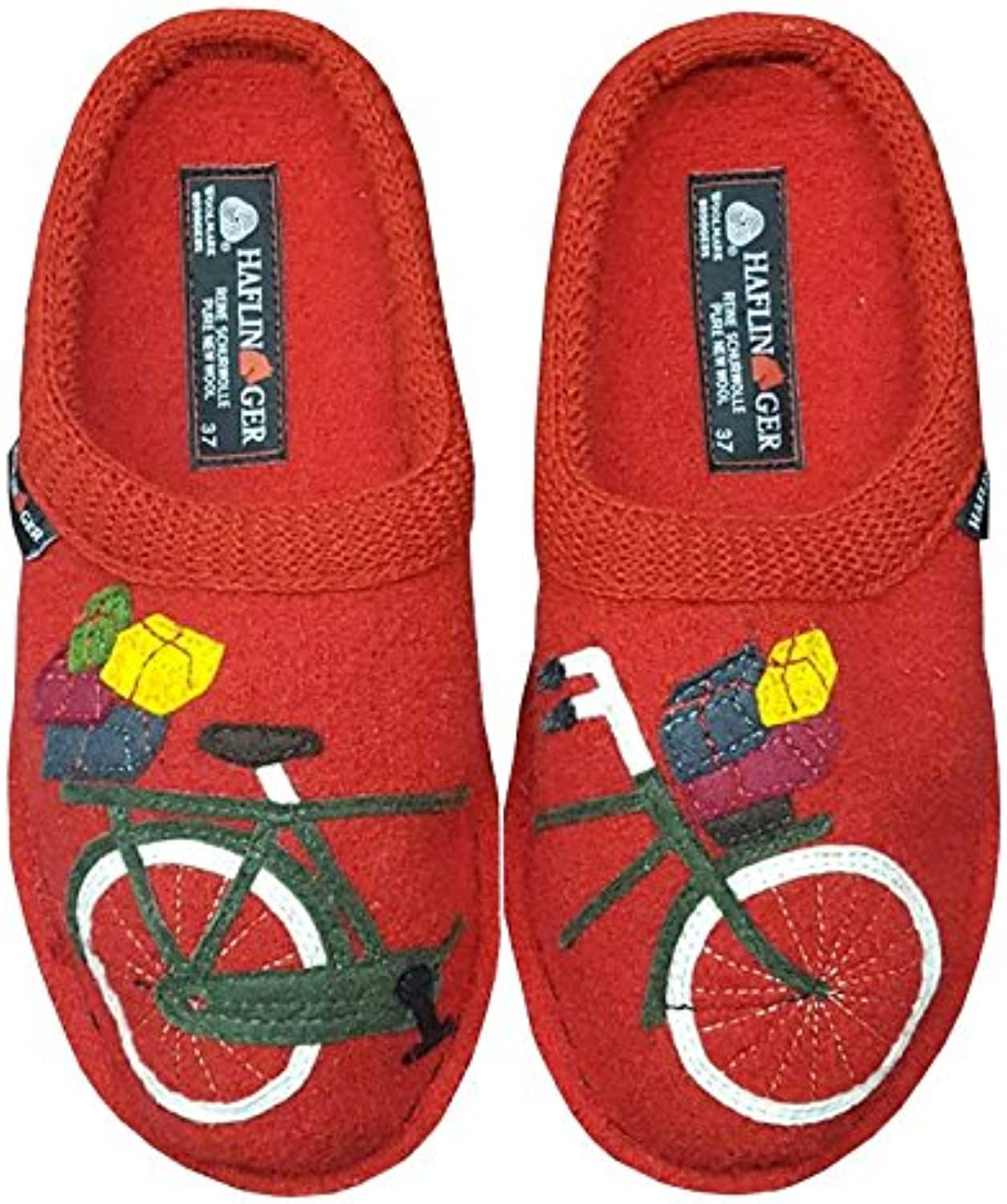 Haflinger Mens Flair Bicycle Closed Toe Slip On Slippers