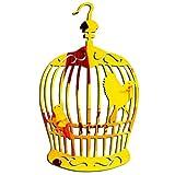 Whinop 1 Pièces Miroir Mural Design Cage À Oiseaux Miroir Vague pour Home Docor