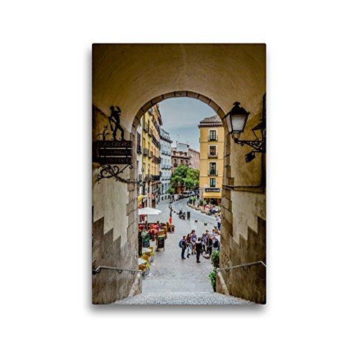 CALVENDO Premium Lienzo de 30 cm x 45 cm de Alto Arco de Cuchilleros Imagen de Pared, Imagen sobre Bastidor, Listo en Lienzo auténtico, impresión en Lienzo: Madrid – España Orte Lugares