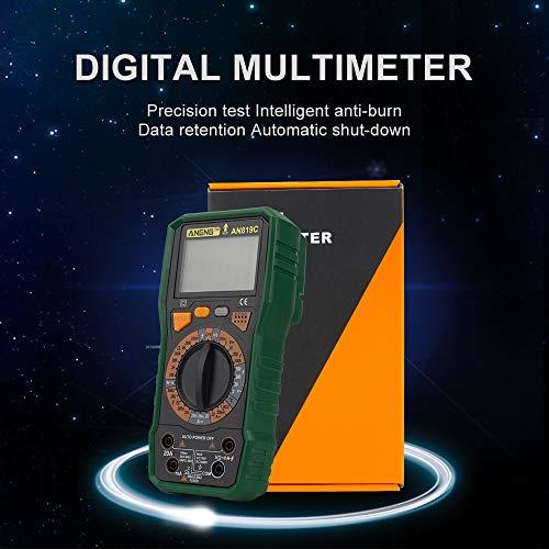 Multímetro Digital LCD probador de capacitancia de Resistencia de amperímetro AC/DC (Color...