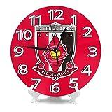 浦和レッズ 柱時計,北欧 おしゃれ 円形掛け時計, 連続秒針掛け時計 静音 部屋装飾壁時計, インテリア 置き時計, 時計 壁掛け寝室 店舗 家 部屋装飾 簡単 贈り物 アラビア数字壁掛け時計, シンプル おしゃれ丸い 壁時計