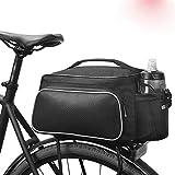 LZZR Cuero de la Bici de la Fibra de Carbono Posterior de la Bicicleta Rack Asiento Pannier Bolsa Bolsa Parrilla de Bolsa de Carga (Color : 14815)