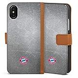 DeinDesign Étui Compatible avec Apple iPhone X Étui Folio Étui magnétique FC Bayern Munich FCB...
