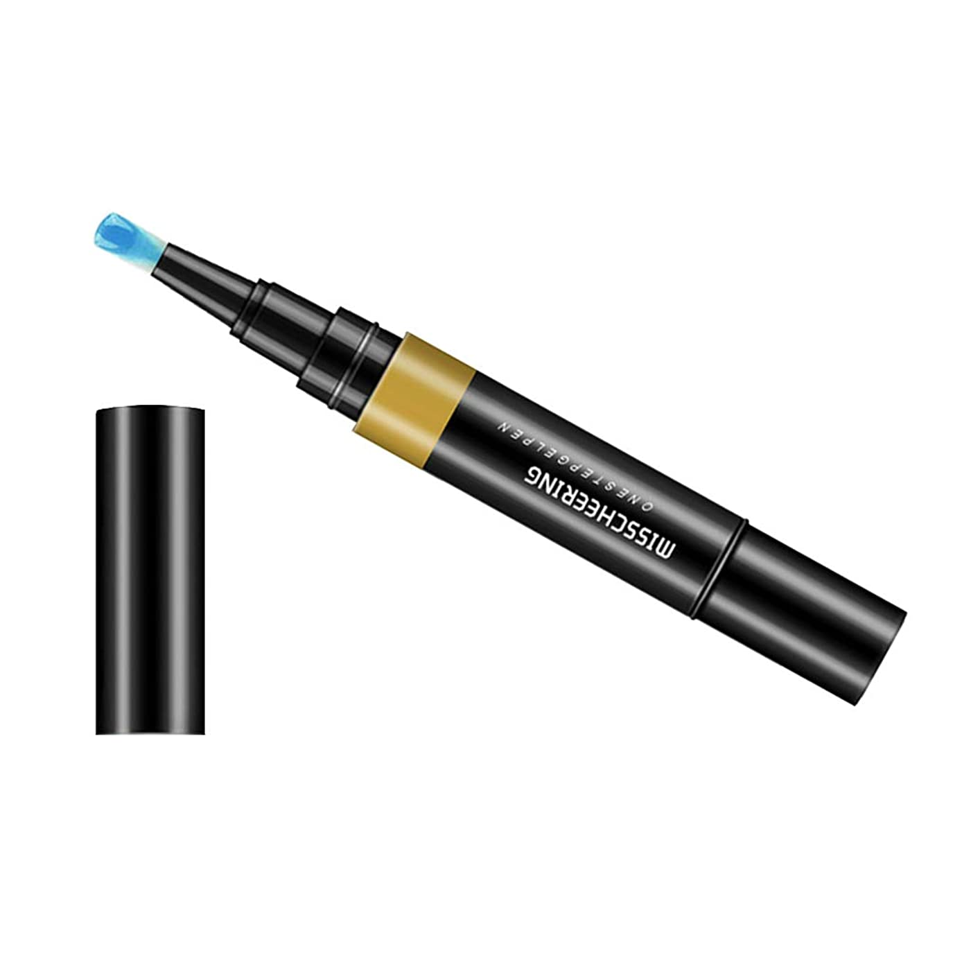 旅客政治病気のCUTICATE ネイルアートペン マニキュアペン セルフネイル 3 イン 1 カラージェル ネイルデザイン ジェルネイル - ブルー