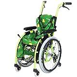 YQTXDS Sillas de Ruedas propulsadas por un Asistente, sillas de Ruedas para niños, patinetes de Movilidad Plegables de aleación de Aluminio, con H (Silla de Ruedas)