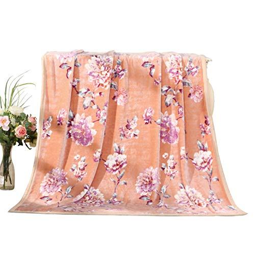 Couvertures Home Textile Couverture Quilt Épaissie Coral Velvet Hiver Feuilles de flanelle chaude Couverture de dortoir étudiant Entièrement en daim, doux au toucher, agréable pour la peau (150 * 200c