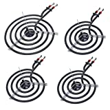 8' WB30X253 6'WB30X254 Burner/Surface Element Kit Compatible with GE Whirlpool Kenmore Stove Range, Cooktop (4 Pack)