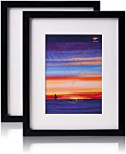 Amistad Black 8x10 Picture Frame with Mat for 5x7, 2 Pack