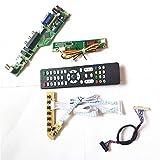 Para LP154WX4-TLAB/TLB1 T.V53 tarjeta de unidad HDMI VGA USB AV RF LCD monitor teclado+Remote+Inversor LVDS 1CCFL 30Pin Kit (LP154WX4-TLB1)