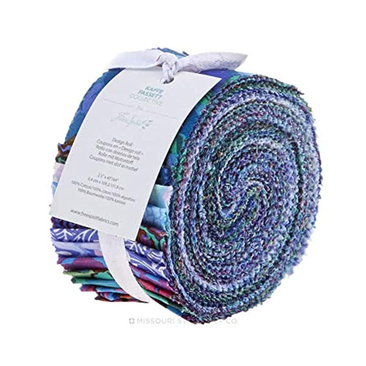 Free Spirit Fabrics Kaffe Fassett Collective Peacock Design Roll with 40 Strips 2.5 by 44