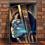 QAZEDC Kunstdruck Leinwanddekoration Malerei Metropolis