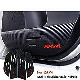 Car-Styling 1Ponga / 4pcs Almohadillas Coche Película De Protección De Fibra De Carbono Pegatinas Puerta Accesorios Anti-Retroceso For Toyota RAV4 2014 2015 2016 Accesorio