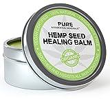 Organic Hemp Seed Oil Cold Pressed Healing Cream, New Improved Formula for Eczema, Psoriasis, Pain, Rash, Jock Itch, Organic Aloe Vera, Coconut, Tamanu, Lavender, Tea Tree Oils 4 ounces