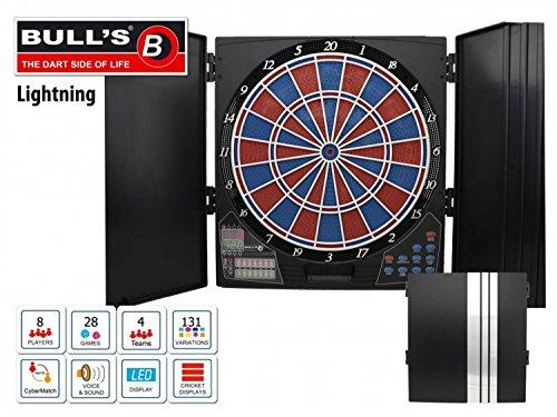 Bulls Erwachsene Cabinet Lightning Elektronische Dartscheibe, Mehrfarbig, M