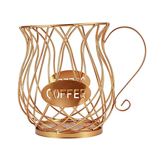 VINTAN Cestino portaoggetti universale per capsule di caffè cesto per tazza da caffè organizzatore per cialde di caffè retrò nero per hotel per caffè per famiglie