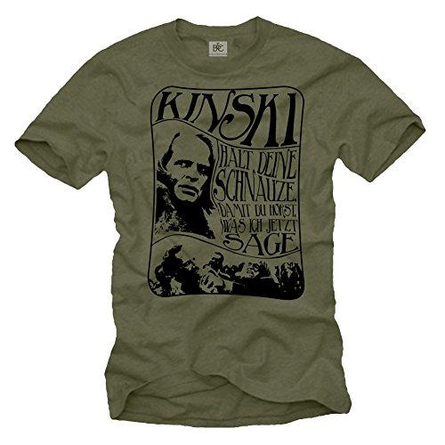 Retro Designer T-Shirt für Herren - Klaus KINSKI - Größe L