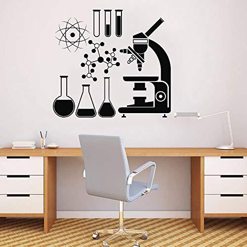 Klassenzimmer Schule Dekoration Mikroskop Wissenschaft Wissenschaftler entfernbare Vinyl Fenster Aufkleber Raum Wissenschaft Wandaufkleber45x42cm