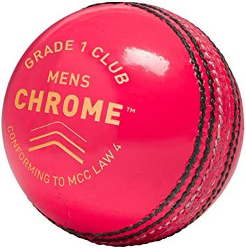 Gm Men Chrome Grade 1 Club Cricket Ball Pink One Size product image