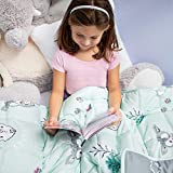 Premium Kids Weighted Blanket 5 Pounds   Heavy Comforter for Toddler   Adventure Green for Children