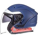 MT Avenue SV Crossroad 105135084 Casco de motocicleta abierto S blanco mate azul rojo