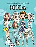 Libro para colorare de MODA: Sombras de moda para colorear ideas de regalos para adolescentes.