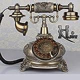 DIANHUA Antikes Telefon Retro Weinlese-klassisches Telefon Wählscheibe Festnetztelefon Altmodisches Schnurgebundenes Telefon Für Office Home Decor Wundervolles Geschenk Kunsthandwerk